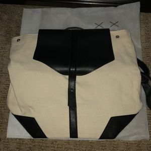 Brand new Deux Lux Black and White Backpack